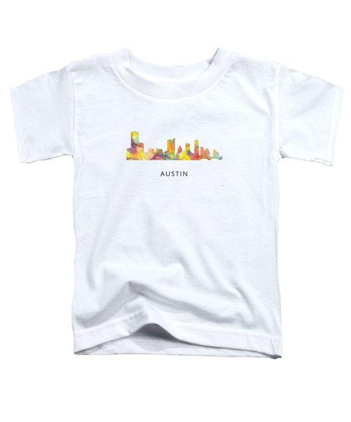 Austin Texas Skyline Toddler T-Shirt by Marlene Watson