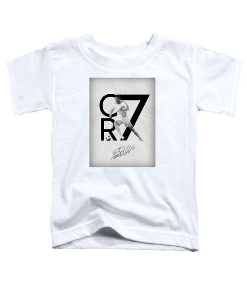Cristiano Ronaldo Toddler T-Shirt by Semih Yurdabak