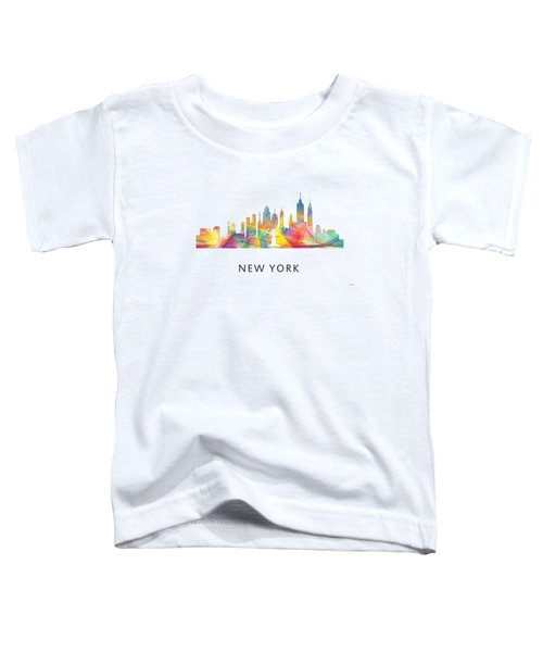 New York Skyline Toddler T-Shirt by Marlene Watson