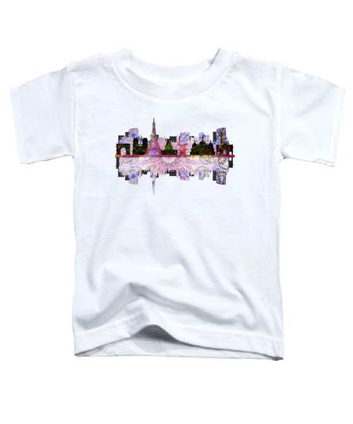 Paris France Fantasy Skyline Toddler T-Shirt by John Groves