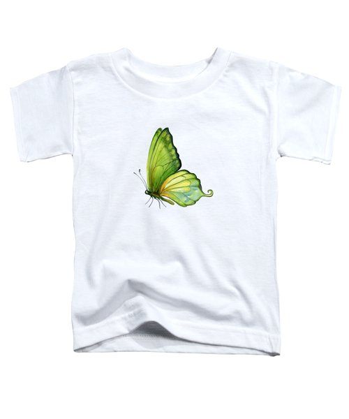 5 Sap Green Butterfly Toddler T-Shirt by Amy Kirkpatrick