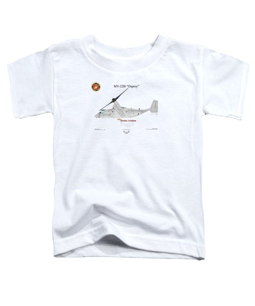 Bell Boeing Mv-22b Osprey Toddler T-Shirt by Arthur Eggers