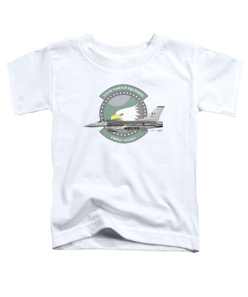 Lockheed Martin F-16c Viper Toddler T-Shirt by Arthur Eggers