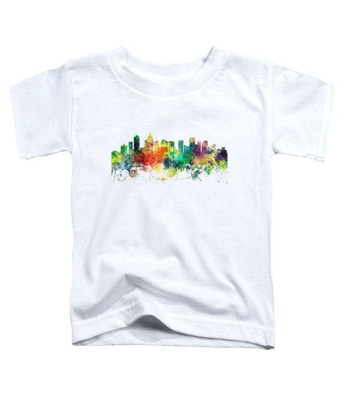 Charlotte Nc Skyline Toddler T-Shirt by Marlene Watson