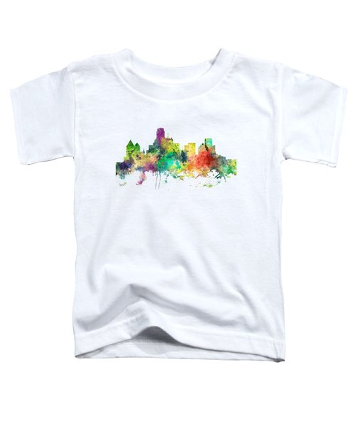 Dallas Texas Skyline Toddler T-Shirt by Marlene Watson