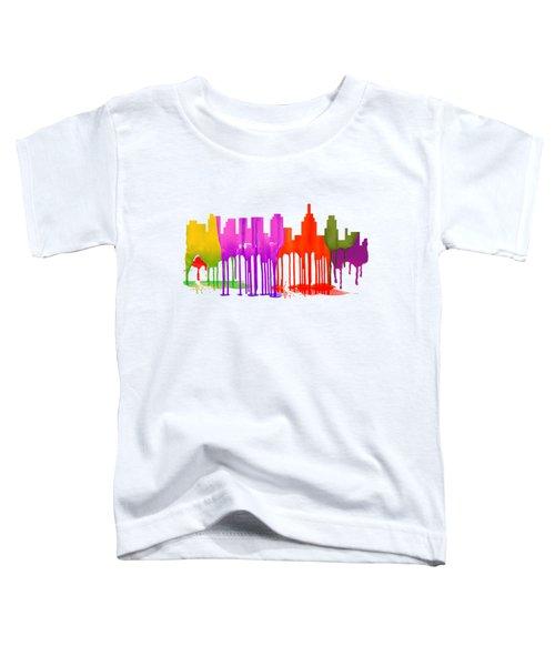 Philadelphia Pennsylvania Skyline Toddler T-Shirt by Marlene Watson