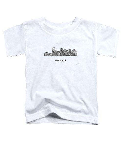 Phoenix Arizona Skyline Toddler T-Shirt by Marlene Watson