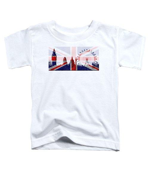 London Skyline Toddler T-Shirt by Michal Boubin