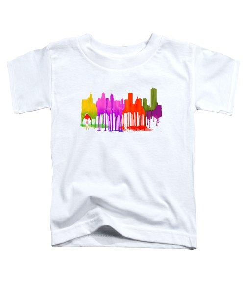 Buffalo New York Skyline Toddler T-Shirt by Marlene Watson