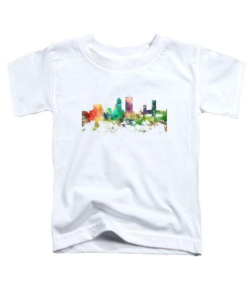 Jacksonville Florida Skyline Toddler T-Shirt by Marlene Watson