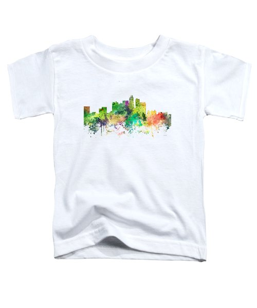Los Angeles California Skyline Toddler T-Shirt by Marlene Watson