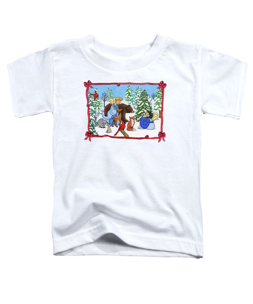 A Christmas Scene 2 Toddler T-Shirt by Sarah Batalka