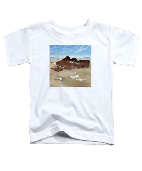 A Slow Death In Piano Valley Sq Toddler T-Shirt by Mike McGlothlen