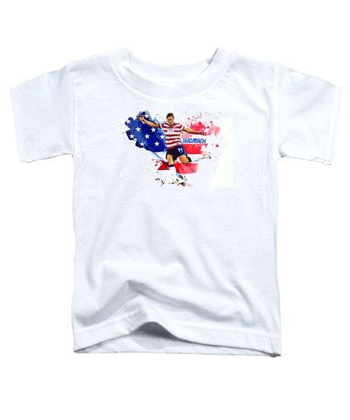 Abby Wambach Toddler T-Shirt by Semih Yurdabak