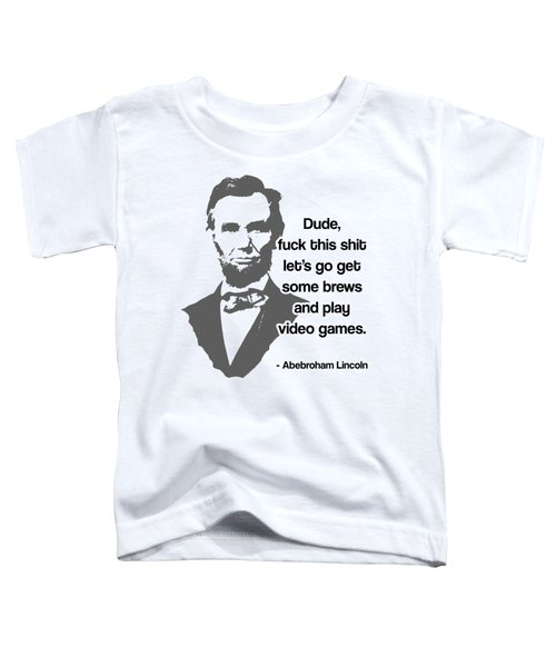 Abebroham Lincoln Toddler T-Shirt by Michelle Murphy