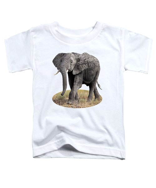 African Elephant Happy And Free Toddler T-Shirt by Gill Billington