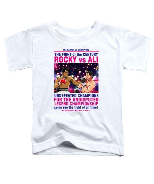 Ali Vs Rocky Toddler T-Shirt by Akyanyme