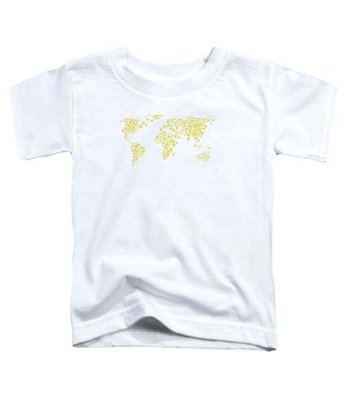All The World Plays Tennis Toddler T-Shirt by Marlene Watson