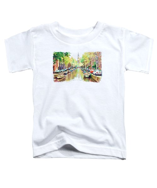 Amsterdam Canal 2 Toddler T-Shirt by Marian Voicu