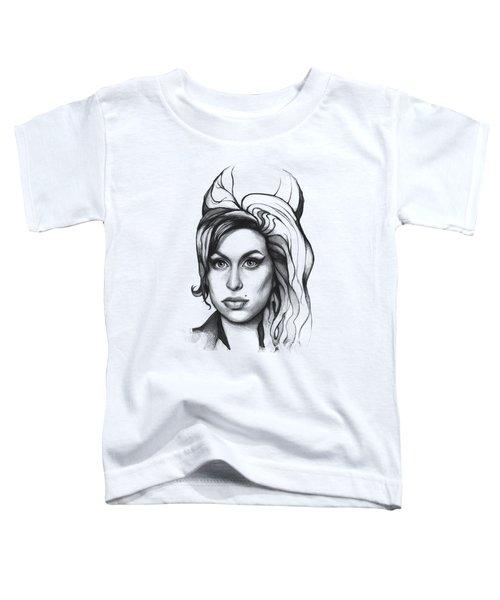 Amy Winehouse Toddler T-Shirt by Olga Shvartsur