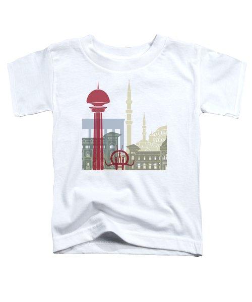 Ankara Skyline Poster Toddler T-Shirt by Pablo Romero