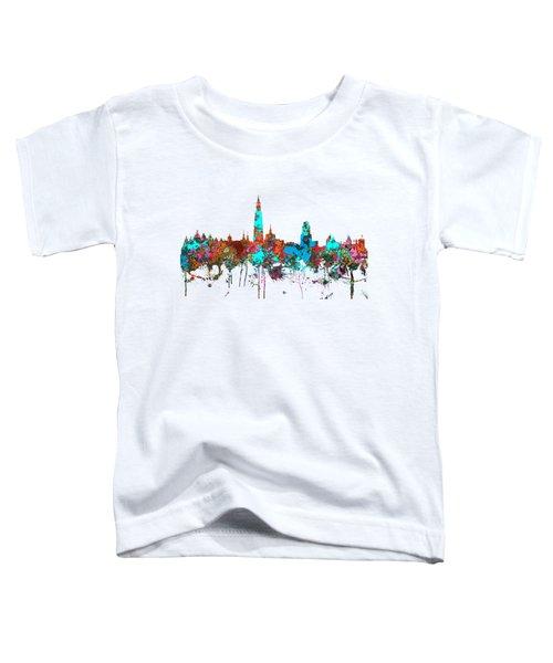 Antwerp Belgium Skyline Toddler T-Shirt by Marlene Watson