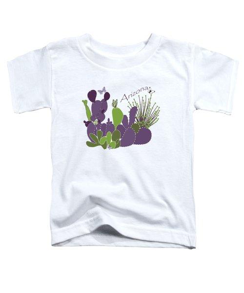 Arizona Cacti Toddler T-Shirt by Methune Hively