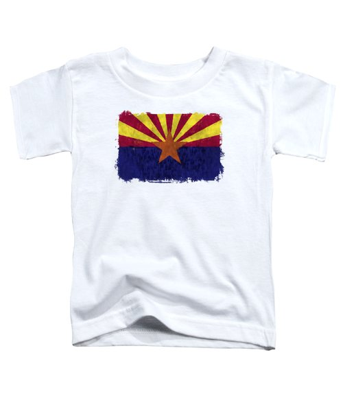 Arizona Flag Toddler T-Shirt by World Art Prints And Designs
