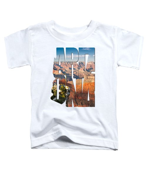 Arizona Typography - Grand Canyon At Sunset Toddler T-Shirt by Gregory Ballos