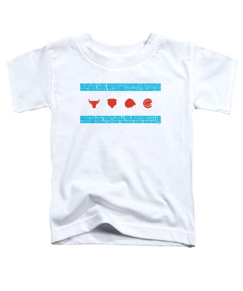Chicago Flag Sports Teams Toddler T-Shirt by Mike Maher