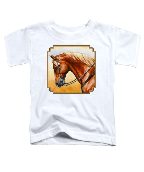 Precision - Horse Painting Toddler T-Shirt by Crista Forest