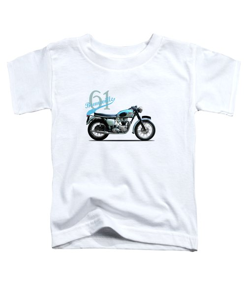 Triumph Bonneville Toddler T-Shirt by Mark Rogan