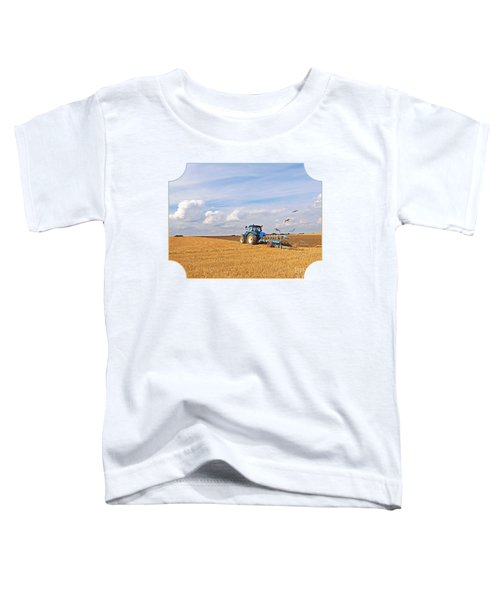 Ploughing After The Harvest Toddler T-Shirt by Gill Billington