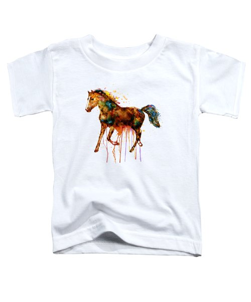 Watercolor Horse Toddler T-Shirt by Marian Voicu