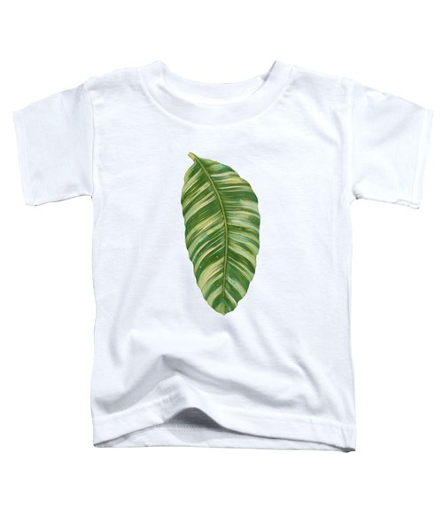 Rainforest Resort - Tropical Leaves Elephant's Ear Philodendron Banana Leaf Toddler T-Shirt by Audrey Jeanne Roberts