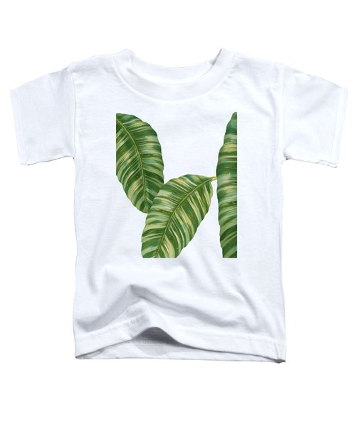 Rainforest Resort - Tropical Banana Leaf  Toddler T-Shirt by Audrey Jeanne Roberts