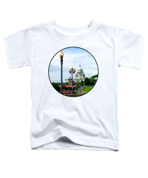 Capitol Building Seen From Waterplace Park Toddler T-Shirt by Susan Savad
