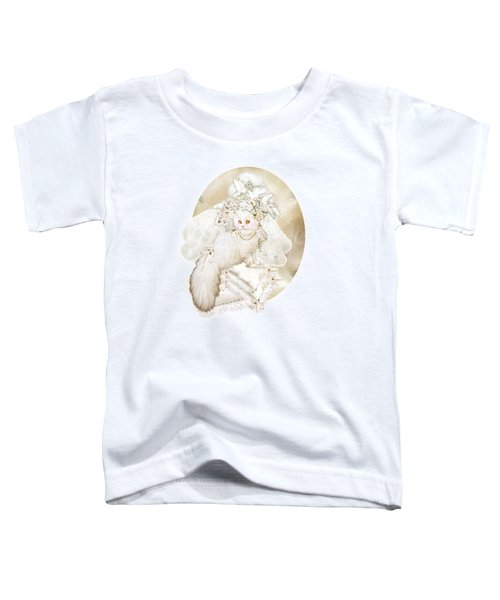 Cat In Fancy Bridal Hat Toddler T-Shirt by Carol Cavalaris