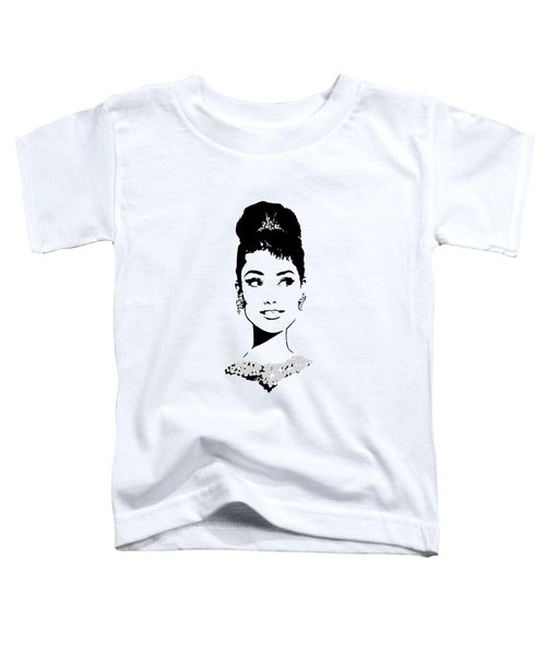 Audrey Toddler T-Shirt by Rene Flores