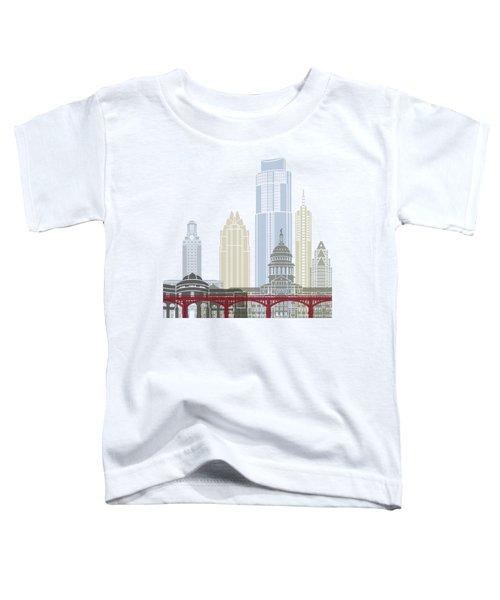 Austin Skyline Poster Toddler T-Shirt by Pablo Romero
