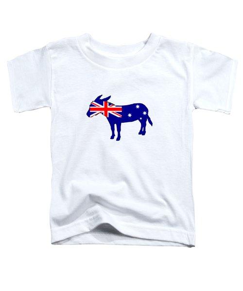Australian Flag - Donkey Toddler T-Shirt by Mordax Furittus