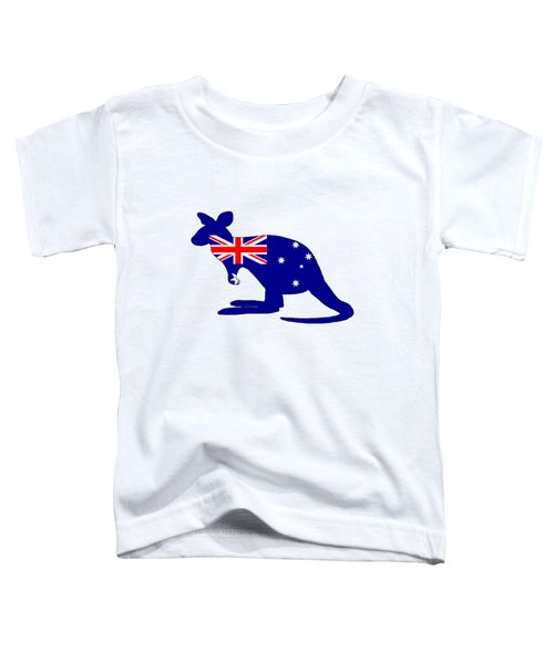 Australian Flag - Kangaroo Toddler T-Shirt by Mordax Furittus