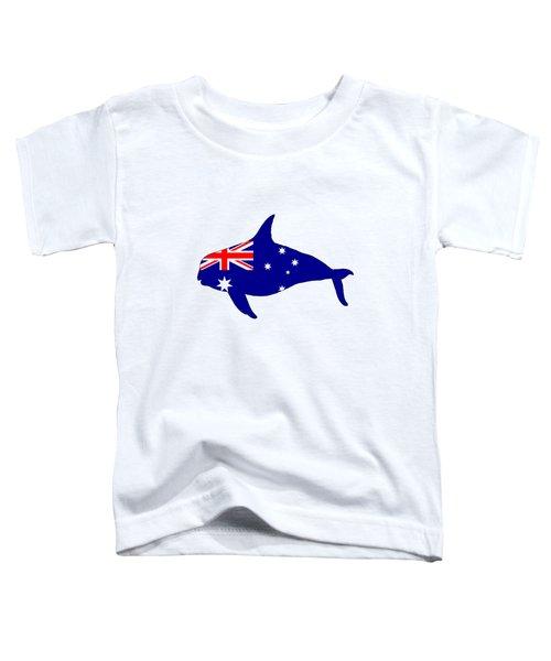 Australian Flag - Killer Whale / Grampus / Orca Toddler T-Shirt by Mordax Furittus