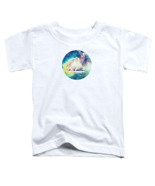 Awsome Collosal Deep Space Triangle Art Sign Toddler T-Shirt by Philipp Rietz