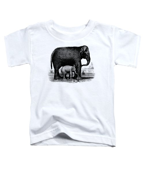 Baby Elephant T-shirt Toddler T-Shirt by Edward Fielding