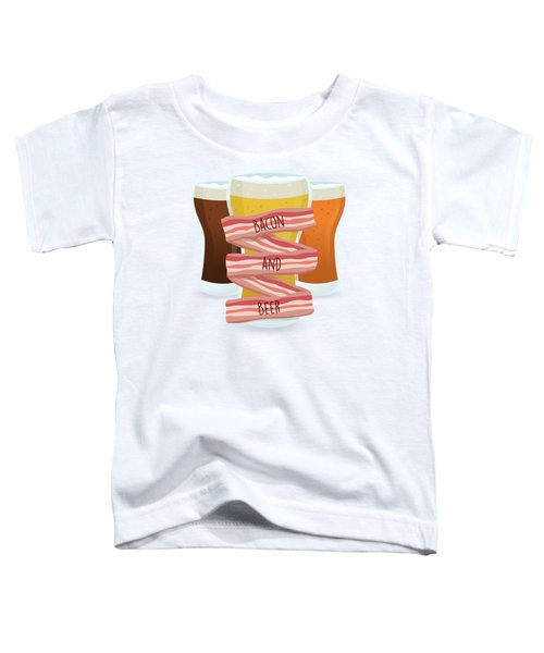 Bacon And Beer Toddler T-Shirt by Renato Kolberg