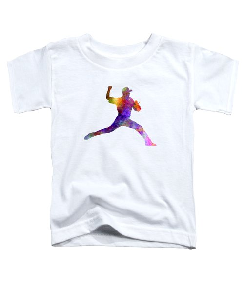 Baseball Player Throwing A Ball 01 Toddler T-Shirt by Pablo Romero