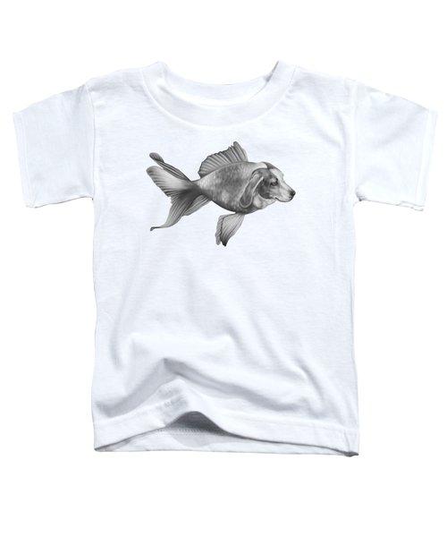 Beaglefish Toddler T-Shirt by Courtney Kenny Porto