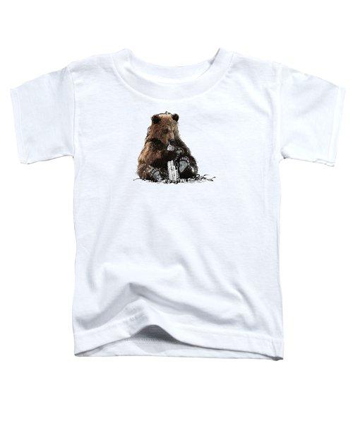 Bear Loves Ny Toddler T-Shirt by Devlin