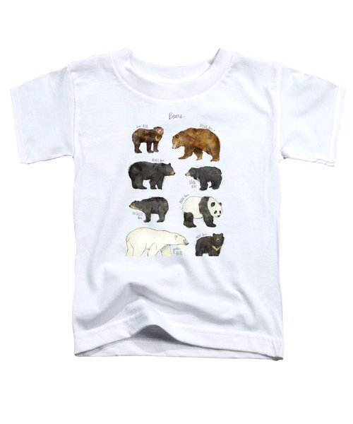 Bears Toddler T-Shirt by Amy Hamilton